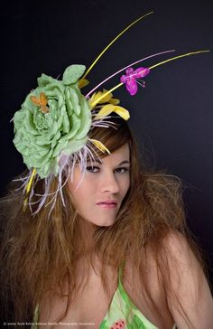 Items similar to Kentucky Derby Hat - Fascinator - Hat Headpiece - Rites of Spring on Etsy Fascinator Hats, Headpiece, Fascinators, Tea Party Hats, Stylish Hats, Hat Hairstyles, Derby Hats, Headgear, Kentucky Derby