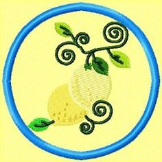 FREE Jacobean Lemon Coaster 4x4 | FREE | Machine Embroidery Designs | SWAKembroidery.com