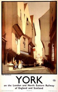 York vintage poster