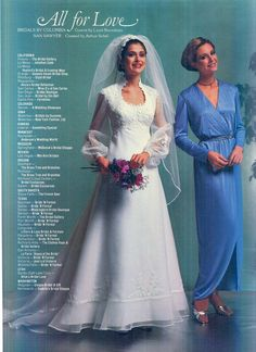 Vintage Wedding Photos, Vintage Weddings, Vintage Bridal, Wedding Attire, Wedding Gowns, 1980s Dresses, Time Capsule, Brides And Bridesmaids, Bridal Fashion