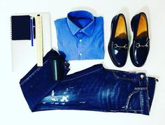 Someone working on Saturday? Here's an outfit idea 👌  #mclabels #fashion #look #office #officeday #menswear #blue #shades #shirt #mac #apple #ootd #instacool #instafashion #coffee #gucci #diesel #workhard #inspiration