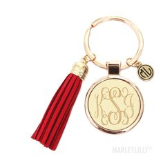 Monogrammed Tassel Key Chain for my new car! Preppy Keychain, Monogram Keychain, Tassel Keychain, Gifts For Him, Great Gifts, Preppy Car, Car Essentials, Marley Lilly, Creative Gifts