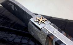 Couteau Laguiole 12 cm molaire de mammouth et lame damas carbone Lame Damas, Atelier D Art, Types Of Knives, Folding Knives, Blade, Creations, Prestige, Accessories, Edc