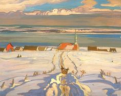 A.Y. Jackson, Invierno, Quebec, 1926. Óleo sobre lienzo, 53.8 x 66.5 cm. National Gallery of Canada, Ottawa.