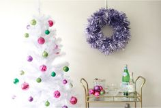 DIY Christmas Wreaths: Glam Garland Wreath