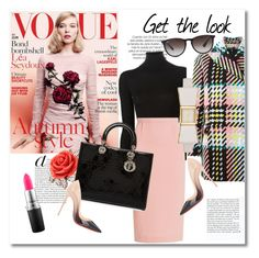 """""""look the day"""" by vkmd ❤ liked on Polyvore featuring Ermanno Scervino, Marni, Mawi, Roland Mouret, Christian Dior, Christian Louboutin, MAC Cosmetics, Kate Spade, Ray-Ban and GetTheLook"""