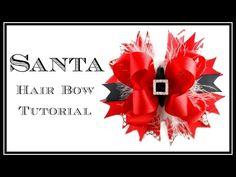 Santa Hair Bow Tutorial - Christmas Hair Bow - Hairbow Supplies, Etc. - YouTube