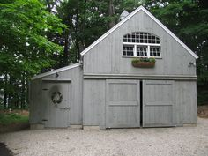 Our 18'x 24' 1-1/2 Story Barn with 8'x 24' enclosed lean-to. www.countrycarpenters.com