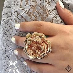 """24 Likes, 1 Comments - Le Joto (@lejotojewelry) on Instagram: """"Adorn your finger with our flower ring encrusted with diamond petals! . . . . . . . . #lejoto…"""""""