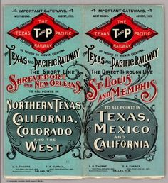 The Texas and Pacific Railway