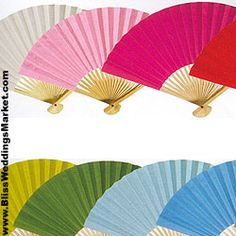 Solid Color Paper Folding Hand Fans - perfect for this time of year