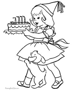 These Free, Printable Birthday Coloring Sheets Are Fun For Kids!