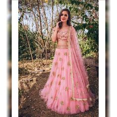Pink net lehenga choli dupatta party wear Indian dress bollywood lengha golden embroidery design custom made dress for womens made to order. Pink Lehenga, Net Lehenga, Lehenga Choli Online, Bridal Lehenga, Party Wear Indian Dresses, Party Wear Lehenga, Indian Wedding Outfits, Pakistani Dresses, Bollywood Costume