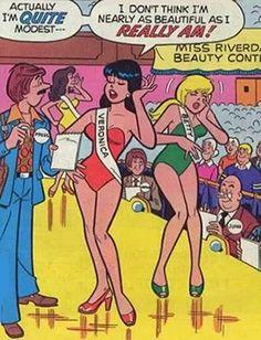 The Proud Beauty trope as used in popular culture. Vintage Comics, Vintage Posters, Vintage Art, Archie Comics Veronica, Blueberry Girl, Archie Comics Riverdale, Archie Comic Books, Dan Decarlo, Children's Comics