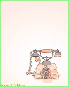 Coral pink vintage phone illustration 5 x 7 by dieselandjuic Telephone Vintage, Vintage Phones, Bullet Journal Vintage, Fanarts Anime, Coral Pink, Retro, Graphic, Vintage Pink, Cute Wallpapers