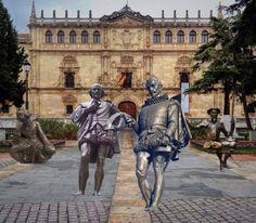 """""""Diálogos hispano británicos"""" en la UAH en el IV centenario de la muerte de Cervantes y Shakespeare. Estos diálogos arrancan el 10 de febrero de 2016 con un debate entre los profesores Carlos Alvar, de la Universidad de Alcalá (""""Shakespeare y Cervantes: encuentros y desencuentros"""") y Brean Hammond, de la Universidad de Nottingham (""""Los huesos de Cervantes: o lo que podemos aprender de la 'obra de teatro perdida' de Shakespeare"""")."""