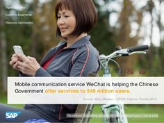 WeChat is helping the Chinese government offer services to 549 million users