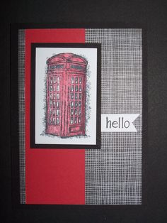 Stampin Up Feeling Sentimental - Phone Booth 5