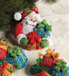 Bucilla ® Seasonal - Felt - Ornament Kits | Plaid Enterprises  #Plaidonline.com #ChristmasCraftWishList