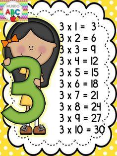 - 🌎Mundo Kids By Marly💋 - Tabuada pronta pra imprimir ! Multiplication Activities, 2nd Grade Math Worksheets, First Grade Activities, Kids Learning Activities, Preschool Worksheets, Reward System For Kids, Math Formulas, Math Intervention, Teacher Supplies