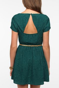 Urban Outfitters - Pins and Needles Silky Jacquard Dress