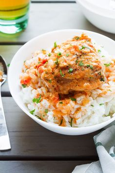 Butter Chicken - Crisp-tender with the creamiest sauce ever – You'll go crazy over this comforting dinner! Chicken Crisps, Butter Chicken Sauce, Creamy Sauce, Chicken Thighs, Chicken Recipes, Lunch Box, Food And Drink, Keto, Sloppy Joe