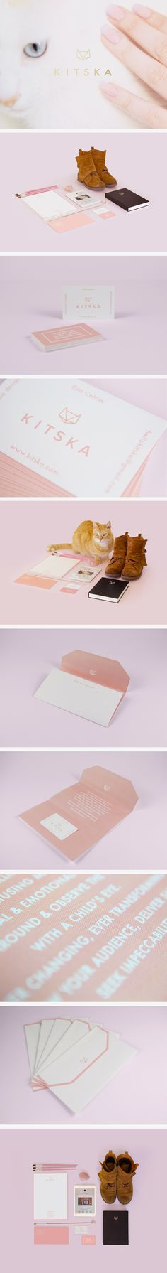 Kitska Branding & Identity by Rita Fox, via Behance. Business card and #stationery suite design inspiration. I love this product photography with shoes and a cat!