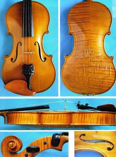 Unique collectable concert violin with Prague by OnTheWeddingNote, $6250.00
