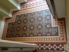 Our latest Victorian Floor Tile project. Completed in August 2014 with tiles from the Original Style collection. A labour of love for our clients who asked us to replicate their neighbour's original vestibule. Victorian Tiles, Victorian Bathroom, Victorian Interiors, Victorian House, Hall Tiles, Tiled Hallway, Front Door Mats, Outside Room, Porch Flooring