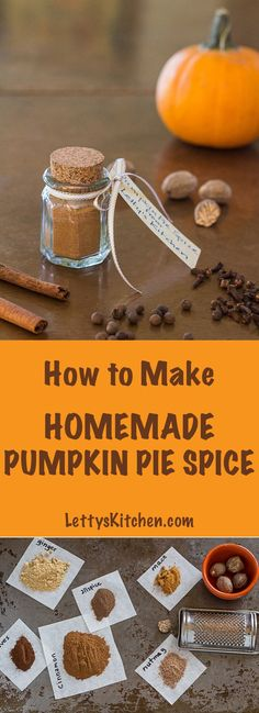 Use this homemade mix in pumpkin spice latte, pies, muffins. Great for hostess gifts. Recipe includes 13 links to recipes that use the mix. [from http://LettysKitchen.com]