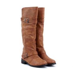 New Arrival Buckle and Low Heel Design Boots For Women, BROWN, 36 in Boots | DressLily.com