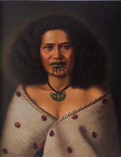 Maori Woman - Raiha Reretu, oil on canvas by Gottfried Lindauer Portraits, Portrait Art, Maori Face Tattoo, Polynesian People, Polynesian Culture, Auckland Art Gallery, Maori People, Maori Designs, New Zealand Art