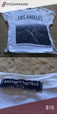 Brandy Melville Los Angeles Crop Top Worn 3 x. Brandy Melville Tops Crop Tops