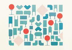 Herman Miller Small + Medium Business Catalog 2012-2013, cover and interior illustrations, Gavin Potenza