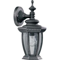 Quorum BALTIC SM DWN W/LANT - RS 7801-72 by Quorum. $38.99. Quorum exterior lighting. Wall lantern in a rustic silver color. Uses 1 bulb of up to 100W.
