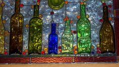 Bottle window - Brewster's Italian Cafe, New Buffalo MI by gairid1791 on Flickr