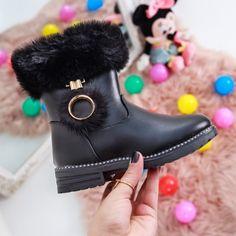 Cizme copii Enzio negre Olivia Black, Ballerina, Biker, Boots, Casual, Fashion, Crotch Boots, Moda, Ballet Flat