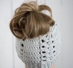 Hey, I found this really awesome Etsy listing at https://www.etsy.com/listing/483934980/messy-bun-hat-crochet-messy-bun-beanie