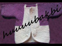 Baby surprise jacket(bebek süpriz ceket),knit tutorial,knit baby pattern,knit baby cardigan