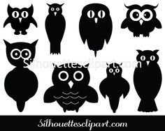 Download Owl Silhouette Vector Clipart