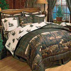 Kimlor Mills Moose Mountain Forest Themed Comforter Set-love it!!