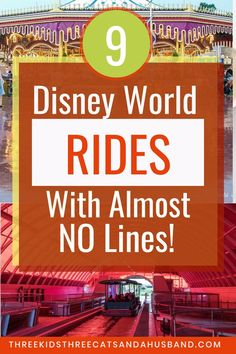 The best underrated rides at Disney World -- that also have the shortest lines! Includes our favorite rides from the Magic Kingdom, Epcot, and Animal Kingdom. Disney On A Budget, Disney World Vacation Planning, Walt Disney World Vacations, Disney Tips, Disney Parks, Disney Travel, Family Vacations, Disney World Secrets, Disney World Rides