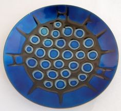 De PASSILLE SYLVESTRE QUEBEC ABSTRACT ENAMEL ON COPPER dish plate (03/30/2011)