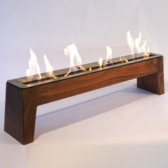 Walnut Gwyneth  Portable Fireplace...beach Life Is Now Made Better.