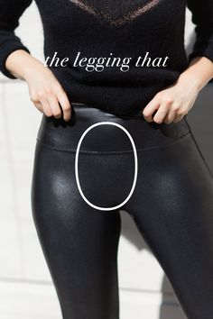 Discover SPANX fashion leggings and your new wardrobe must have! These flawless leggings shape so you look good coming and going. Shop now! Legging Outfits, Leggings Fashion, Spanx Faux Leather Leggings, Leather Pants, Casual Fall Outfits, Cute Outfits, Mode Des Leggings, Relaxed Outfit, Full Figure Fashion
