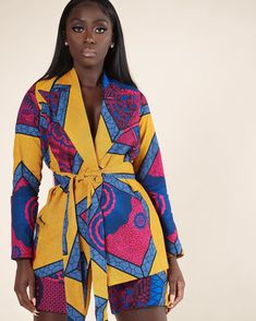 The Thamini BlaZers all from African Print Clothing, African Print Fashion, Fashion Prints, African Attire, African Wear, African Dress, African Style, Bougie Black Girl, Mode Wax