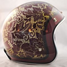 Red Lace and Flames One-Of-A-Kind Biltwell custom painted helmet. $299  Available here: http://sqi.sh/g5u