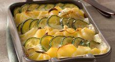 Gratin de pommes de terre et courgettesVoir la recette du Gratin de pommes de terre et courgettes >>