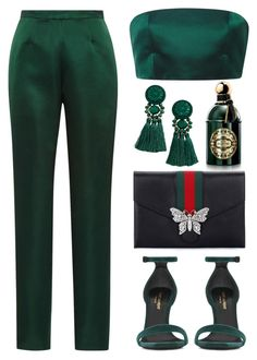 """Untitled #1568"" by isror on Polyvore featuring Guerlain, Katie Ermilio, Yves Saint Laurent and Gucci"