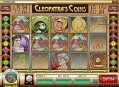 Cleopatra's Coins is a 5-reel 15-line video slot Get $20 Free or $333 Free play at Cherry Spins Casino